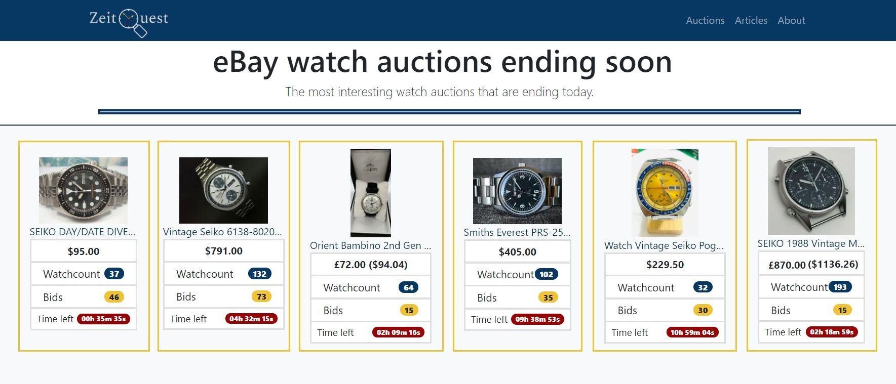Zeit Quest Auctions