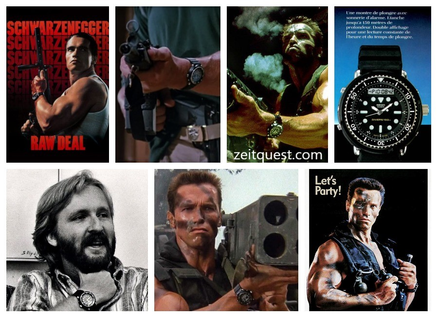 "The Seiko H558 ""Arnie"" was worn by actor Arnold Schwarzenegger in 5 movies. James Cameron also wore the watch."