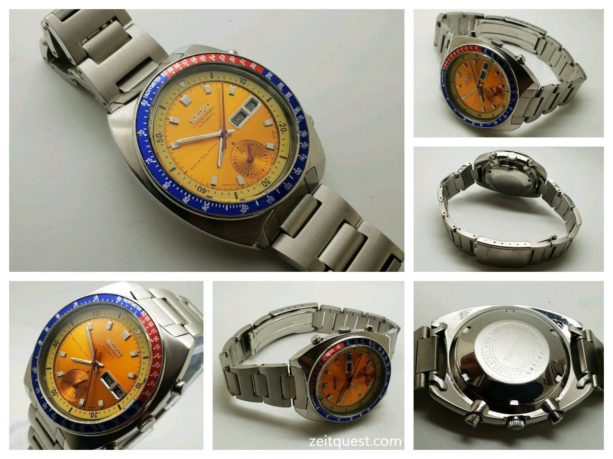 Vintage Seiko Pepsi Pogue 6139-6002 Automatic Chronograph 17 Jewels Available on eBay.