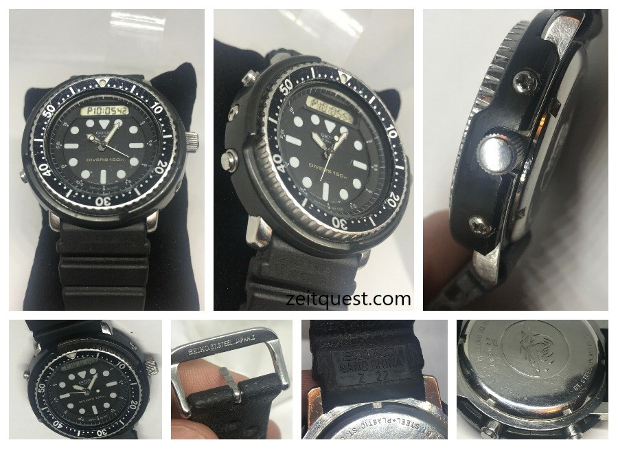 "The Seiko H558-5009 divers watch ""Arnie"", built to last, with a combination of analog and digital displays. Available on eBay."