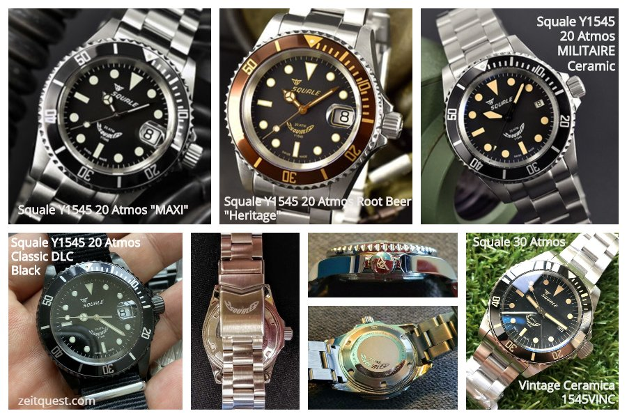 The Squale Atmos 20 1545 is a great affordable alternative to the Rolex Submariner. Several variations are available. Available on eBay.