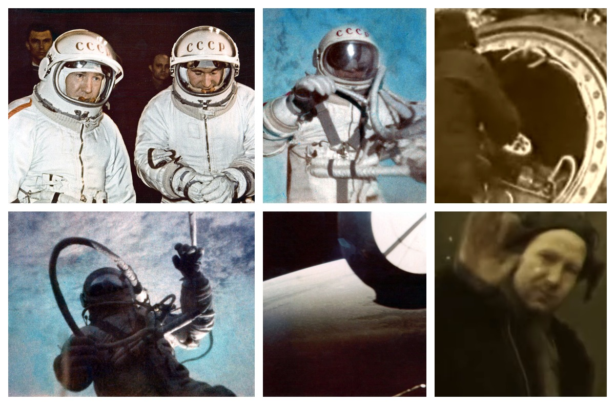 Archive FAI pictures of the Voskhod 2 mission performed Alexei Leonov and Pavel Belyayev. Alexei being the first man to perform an extravehicular activity (EVA) in space: the famous spacewalk. Credits: FAI.